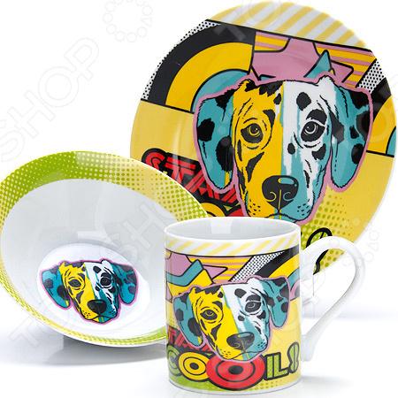 Набор посуды для детей Loraine LR-27124 «Собачка»