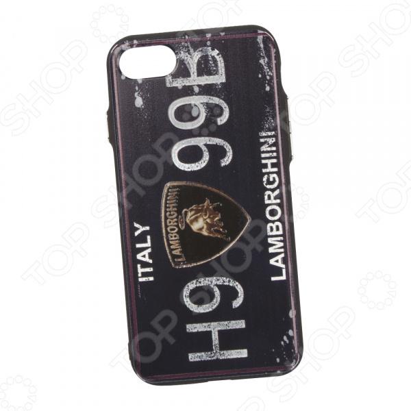 Чехол для iPhone 7/8 с фактурным покрытием «Номер: Италия Ламборгини» телефон 70550 чей номер