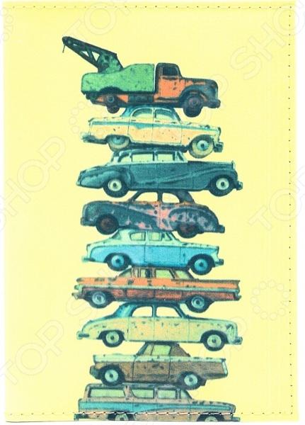 Обложка для автодокументов кожаная Mitya Veselkov «Тачки на прокачку»