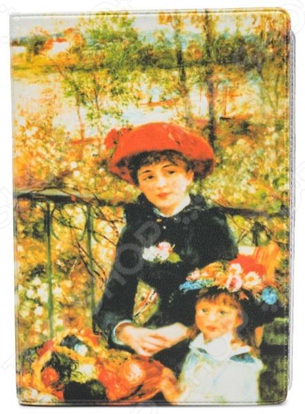 Обложка для автодокументов кожаная Mitya Veselkov «Ренуар» обложка для автодокументов mitya veselkov маленький принц силуэт