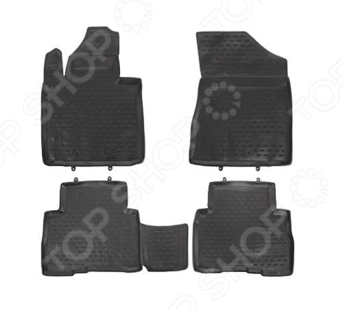 Комплект ковриков в салон автомобиля Novline-Autofamily KIA Sorento 2012-2015 комплект ковриков в салон автомобиля novline autofamily kia sorento ii 2006 2009 цвет черный