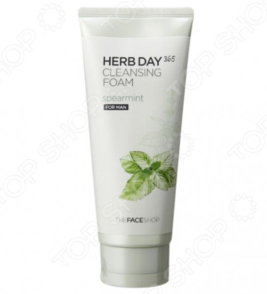 Пенка для умывания THE FACE SHOP Herb Day 365 «Мята» пенка the face shop herb day 365 cleansing foam peach объем 170 мл