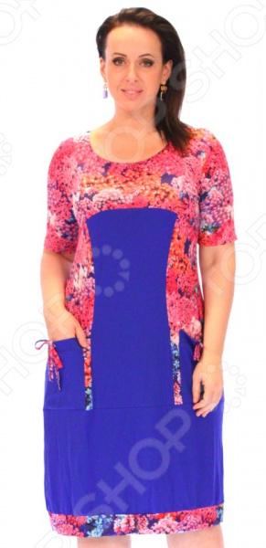 Платье Матекс «Яркое впечатление». Цвет: синий