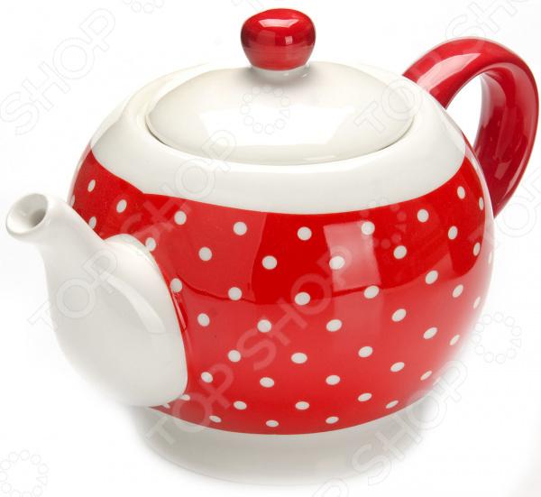 Чайник заварочный Loraine LR-25857 «Узор горошка»
