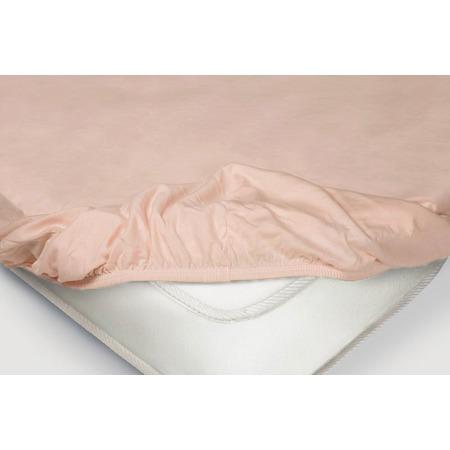 Купить Простыня на резинке Ecotex трикотажная. Цвет: розовый