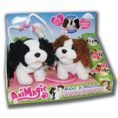 Купить Мягкая игрушка интерактивная Vivid Щенки Макс и Молли