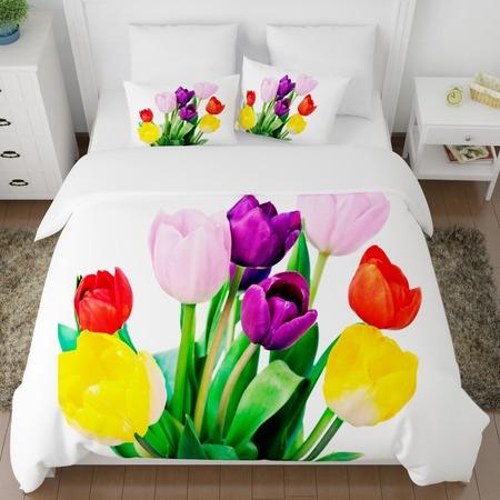 Купить Комплект постельного белья Сирень «Весенние цветы»