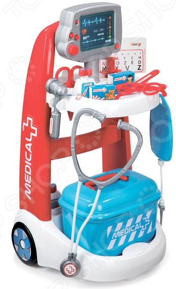 Игровой набор для ребенка Smoby «Электронная медицинская тележка» тележка багажная lm 11с