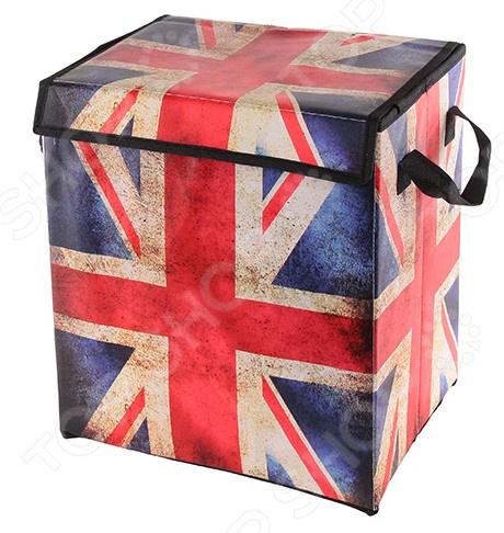 Кофр для хранения вещей EL Casa «Британский флаг». Размер: 30х22х32 см
