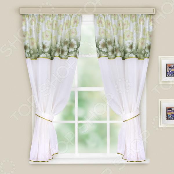 Комплект легких штор WITERRA «Кристалл». Цвет: зеленый. В ассортименте