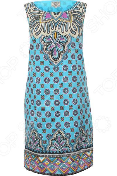Платье Finn Flare S16-14080. Цвет: бирюзовый