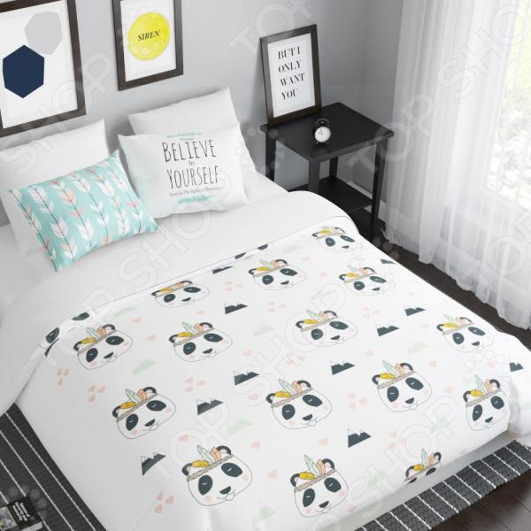 Комплект постельного белья Сирень «Панда»