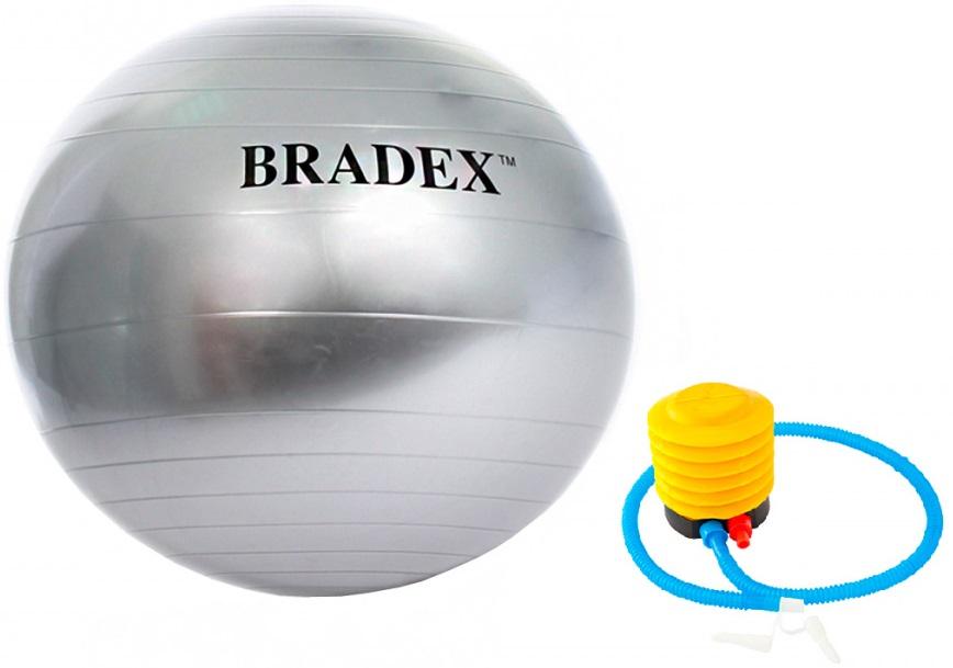 Мяч гимнастический с насосом Bradex «Анти-взрыв»