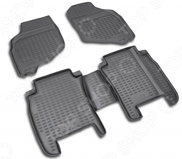 Комплект ковриков в салон автомобиля Novline-Autofamily Citroen C4 2004-2010. Цвет: бежевый - фото 7
