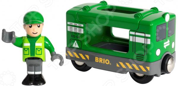 Игровой набор Brio «Грузовой вагон с машинистом» поезд brio экспресс с машинистом с 3 х лет