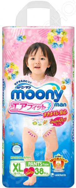 Трусики-подгузники для девочки MOONY XL (12-17 кг)