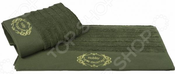 Полотенце махровое Hobby Home Collection Zafira. Цвет: оливковый