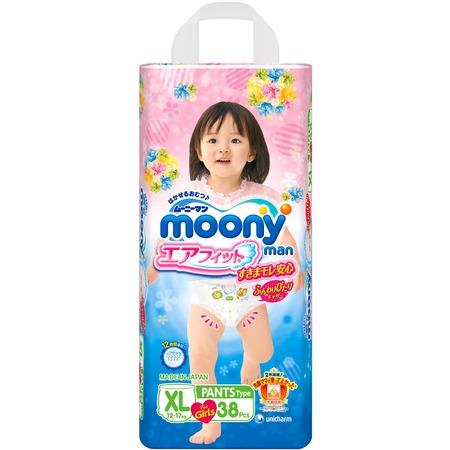 Купить Трусики-подгузники для девочки MOONY XL (12-17 кг)