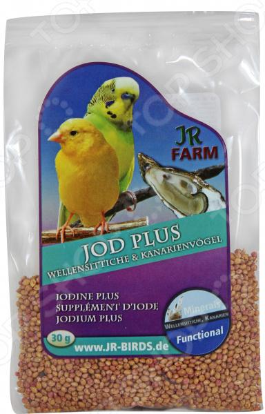 Добавка минеральная для волнистых попугаев и канареек JR Farm Jod Plus асфальто минеральная смесь рязань