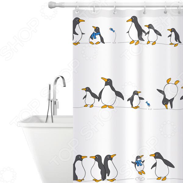 Штора для ванной Tatkraft Penguins Textile