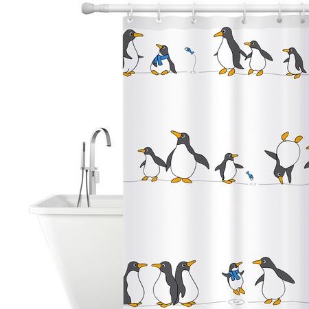 Купить Штора для ванной Tatkraft Penguins Textile