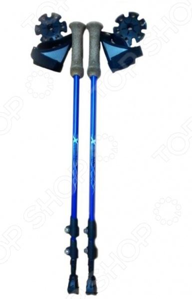 Палки для скандинавской ходьбы Larsen Extreme идеальное решение для занятий скандинавской или нордической ходьбой, которая позволяет даже абсолютно нетренированным людям привыкнуть с физическим нагрузкам, постепенного наращивать их объем и повышать, тем самым, выносливость. Каждая пара имеет удобные наконечники, которые позволяют использовать палки на различных рельефах круглый год. Этот простой спортивный снаряд обеспечивает отличную нагрузку на суставы и мышцы нижней части тела. Раздвижная конструкция палок специально разработана для длительных походов и восхождений, требующих минимального веса и надежного снаряжения. Профессиональная рукоятка из легкой синтетической пробки обеспечивает максимально комфортный хват. Другие особенности палок для скандинавской ходьбы Larsen Extreme:  палки выполнены из легкого алюминия покрытого лаком;  пластиковая облегченная опора в виде удобной лапки;  гоночный тепляк в виде капкана не позволит потерять палки, если случайно подскользнетесь. Палки отлично подойдут для пеших прогулок по местности со сложным рельефом. Для большего удобства палки поставляются в чехле.