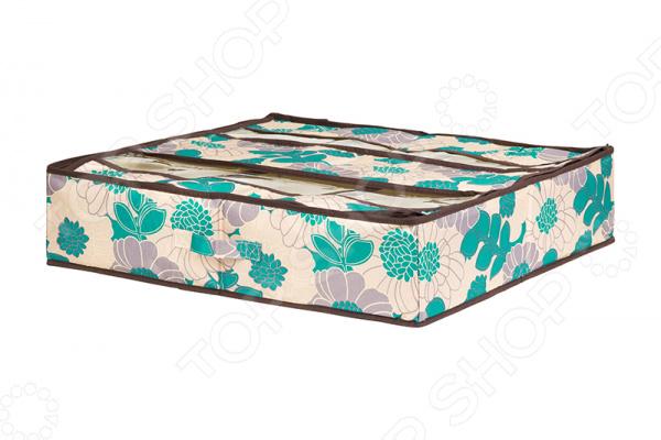 Органайзер для обуви EL Casa «Цветочное поле» 370564 кофры el casa набор 2 кофров цветочное поле бирюза