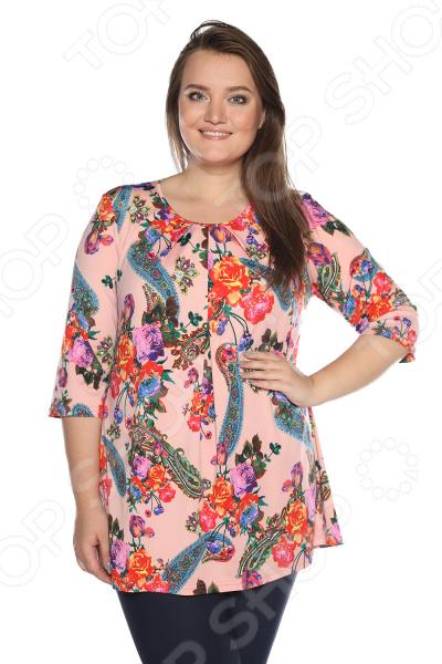 Блуза Лауме-Лайн «Сад чудес». Цвет: карамельный