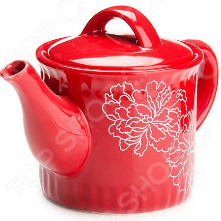 Чайник заварочный Loraine LR-25841 «Узор цветов»