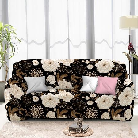 Купить Чехол на четырехместный диван «Пионы». Размер: 240х290 см