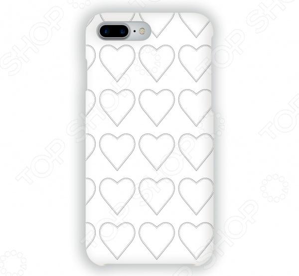 Чехол для iPhone 7 Plus Mitya Veselkov «Сердца-нашивки» купить чехол для смартфона лджи 880