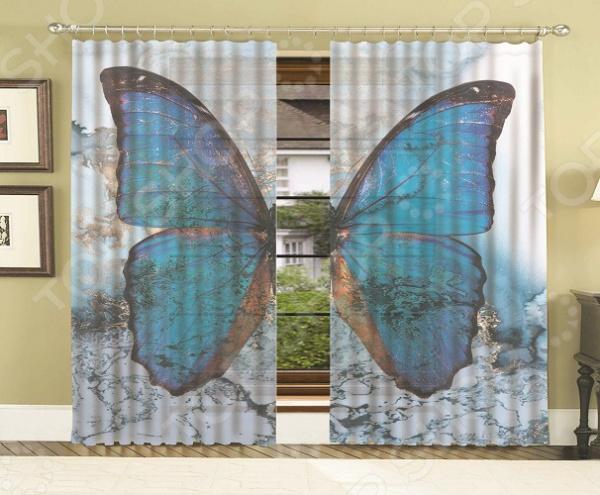 Комплект тюля МарТекс «Мраморная бабочка»