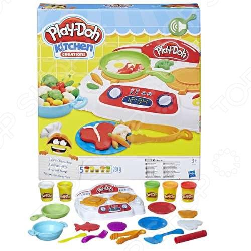 Набор пластилина игровой Hasbro Play-Doh «Кухонная плита» цена