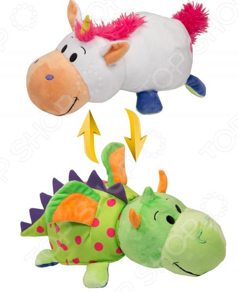 Мягкая игрушка 1 Toy «Вывернушка 2в1: Единорог-Дракон»