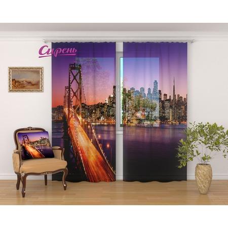 Купить Фототюль Сирень «Горизонты Сан-Франциско»