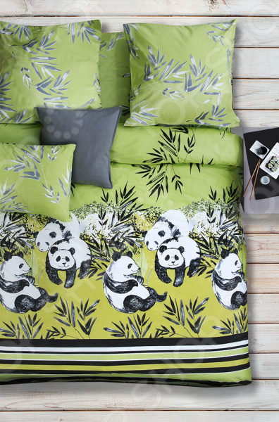 Комплект постельного белья Сова и Жаворонок «Зеленый чай»