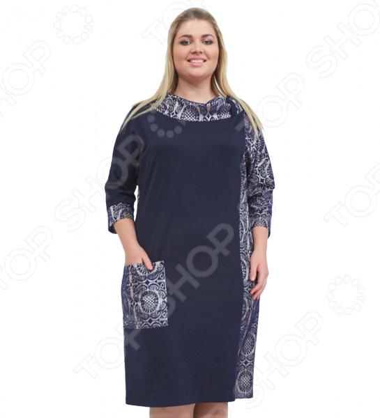 Платье СВМ-ПРИНТ «Дениз». Цвет: темно-синий свм принт вкус востока цвет розовый