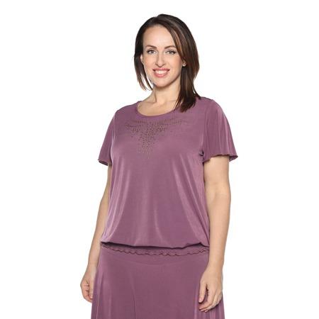 Купить Блуза «Ослепительная» с  мерцающим декором. Цвет: сливовый