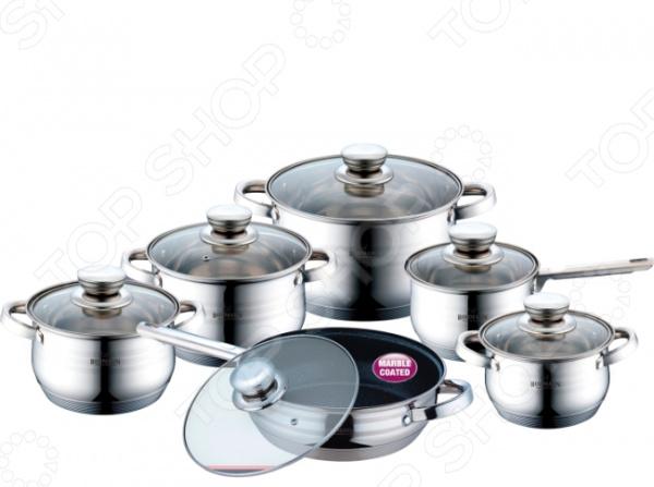 Набор посуды для готовки Bohmann 1231MRBBH кастрюля пароварка bohmann с крышкой 4 уровневая 2 5 л
