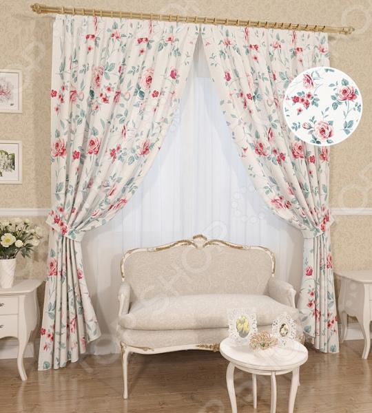 Комплект штор Сирень «Синора» комплект штор с покрывалом для спальни в москве