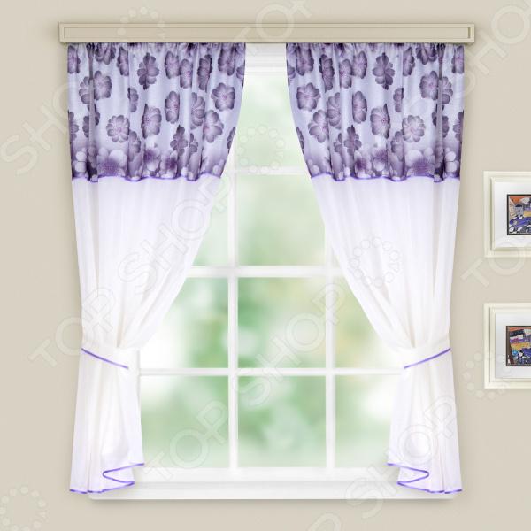 Комплект легких штор WITERRA «Кристалл». Цвет: сиреневый. В ассортименте
