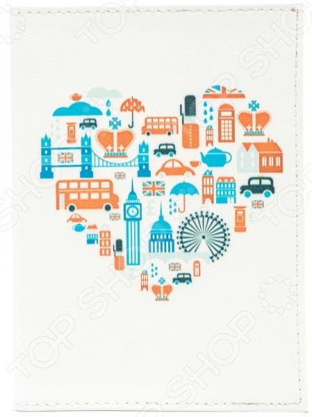 Обложка для паспорта кожаная Mitya Veselkov «Сердце Лондона» стоимость