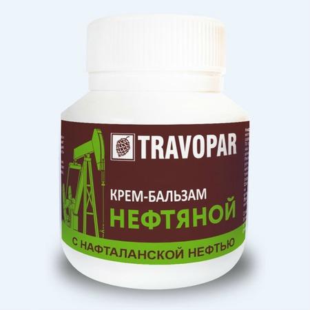 Купить Крем-бальзам для тела Travopar нефтяной «Нафталановый»