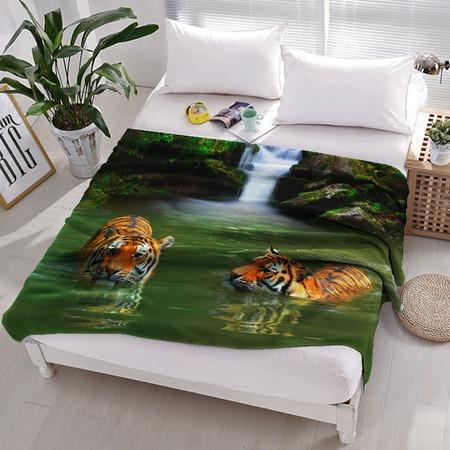 Купить Плед флисовый ТамиТекс «Тигры в воде»