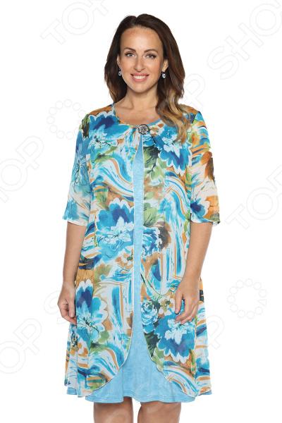Платье Гранд Гром «Творческий полет». Цвет: голубой платье imogen цвет голубой