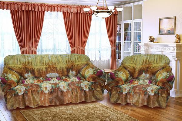 Чехол для дивана «Уютный дом». Цвет: коричневый. В ассортименте