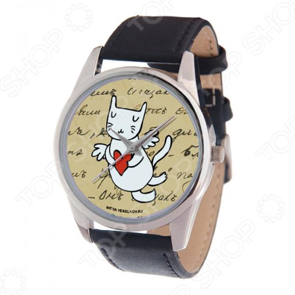 Часы наручные Mitya Veselkov «Кот-амур: сердце»