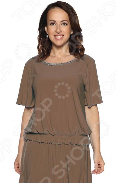 Блуза Pretty Woman «Лови момент». Цвет: какао цена