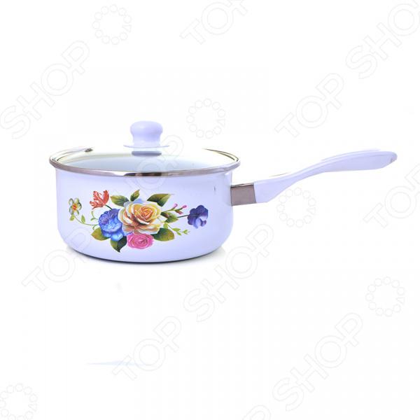 Кастрюля с крышкой Mayer&Boch «Розы» MB-23654 посуда кухонная