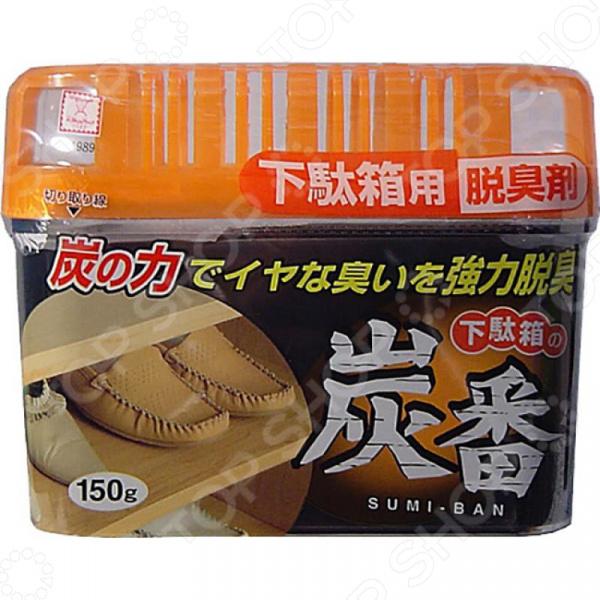 Поглотитель запахов Kokubo Deodorant Sumi-Ban для обувных шкафов с древесным углем kokubo поглотитель запаха в гелевых шариках shosyuс запахом персика 150 г